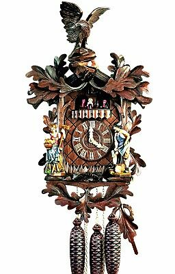 Hubert Herr,  Black Forest lovely new 8 Day musical  cuckoo clock from Germany.