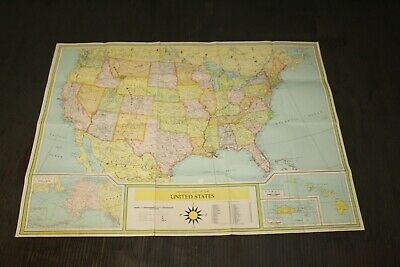 Universal Color Folding Map of the United States 49 x 35 1/2