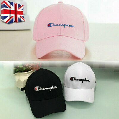Champion Black New Sport Baseball Cap Embroidery Hip Hop Hat Snapback