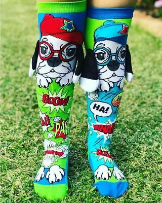 MadMia Puppy Love Socks Cool Cute Dog Floppy Ears Colourful Crazy Gift Kids Fun