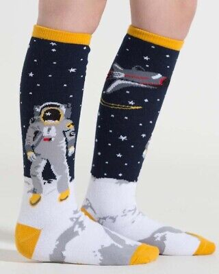 Sock It To Me One Small Step Kids Knee High Socks Astronaut Space Cool Gift Fun