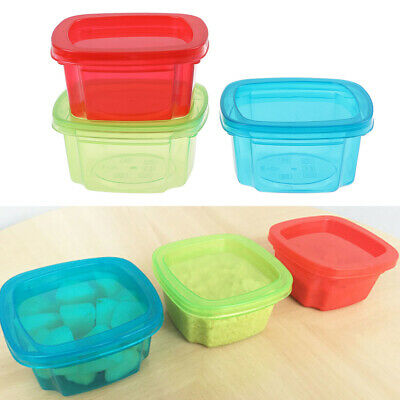 200ML Baby food boxes container baby snacks storage boxes mini portable crisp FA