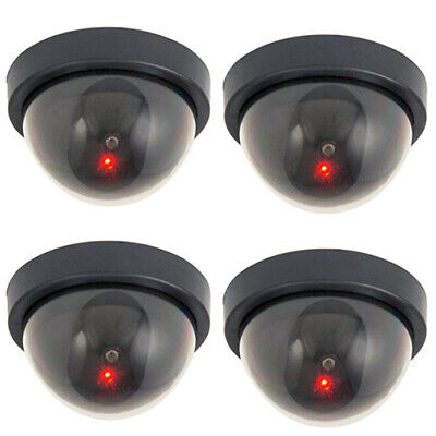Dummy Dome Fake Security Camera CCTV Home False LED W/ Flashing Red Light