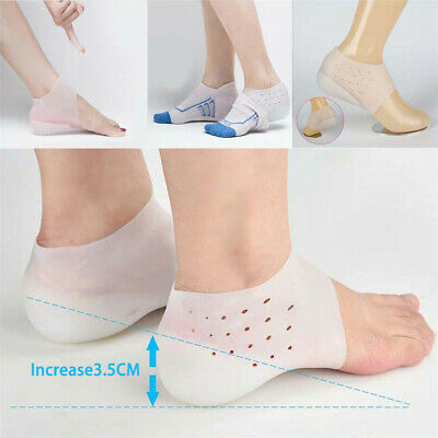 Invisible Height Increased Insoles-Unisex Height Lift Heel Pad Sock Liner Gel AU