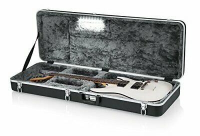 Gator Cases Deluxe Molded Case for Electric Guitars with Internal LED Lighting (