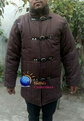 Middle Age Costume Medieval Gambeson Reenactment Roman Brown Color Nice Jacket
