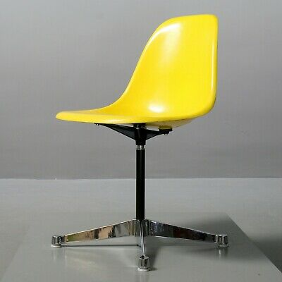 1 (von 3) Eames Fiberglas Side Chair Gelb, Herman Miller/ Vitra Contract Stuhl