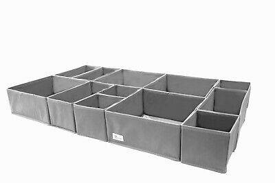 Periea 12 Pack of Fold-able Bedroom Drawer Organisers for Clothes, Underwear Etc