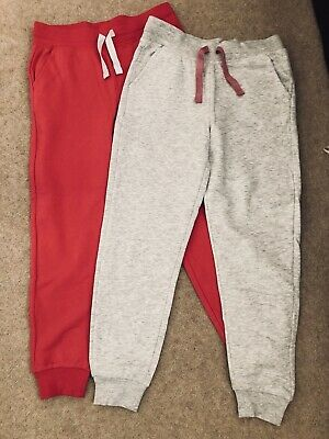 2 Pairs Brand New Girls Pink & Grey Jogging Bottoms Size 9-10 Years From George