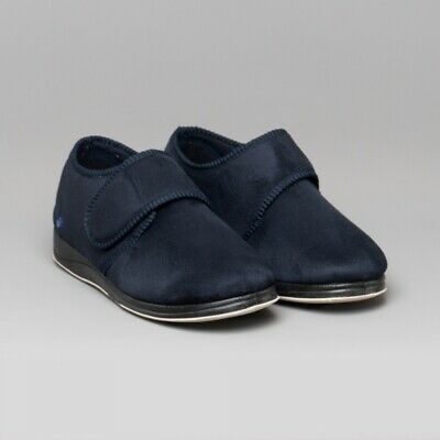 PADDERS Slippers CHARLES Men's Microsuede Wide (G Fit) Full Navy Size 6