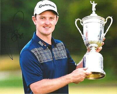 Hand Signed 8x10 photo JUSTIN ROSE - US OPEN GOLF CHAMPION Tiger Woods + my COA