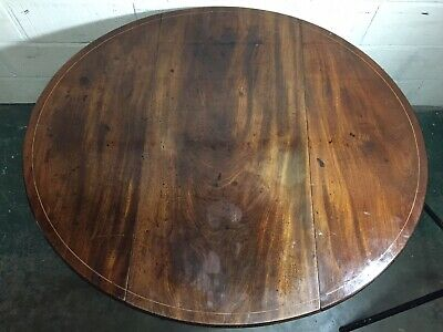 A SUPERB SHERATON  PERIOD 18th CENTURY FLAMED MOHOGANY OVAL PEMBROKE TABLE