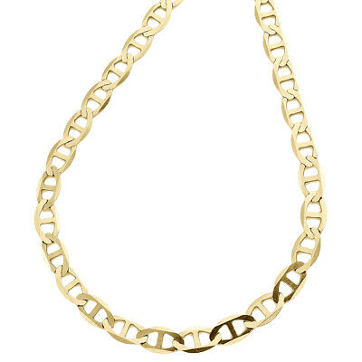 10k Yellow Gold Solid Mariner Necklace Chain 5.0 mm 28''  28 inch Mens Womens