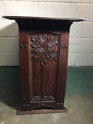 A Rare Arts And Crafts Oak Double Sided Open Bookcase