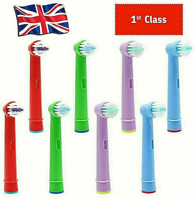KIDS Toothbrush Heads Childrens Replacement Fits Oral B Colour Electronic Brush