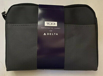 New 2019 TUMI for Delta Airlines Amenity Kit Delta One Gray Soft Case Bag Unopen