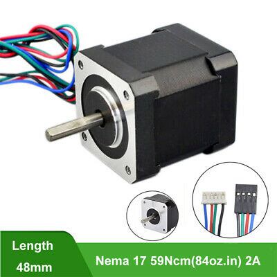 59Ncm Nema 17 Stepper Motor Bipolar 4-wire 83.6oz.in 2A For CNC Robot 3D Pinter