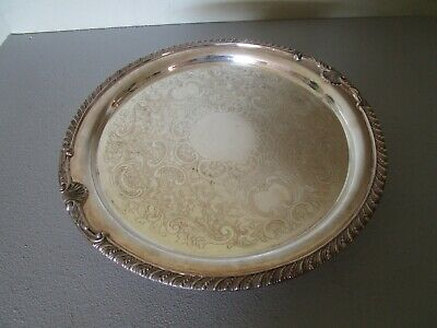 Vintage The Sheffield Silver Co. Made in USA Silverplate Pedestal Cake Stand