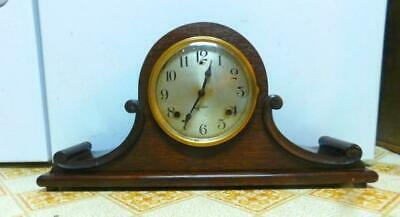 Sessions Traymore Mantel Wind Up Clock Wood 1923 Runs Chimes