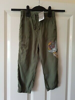 BNWT NEW beautiful Next lightweight soft khaki trousers: size 5 years RRP£21
