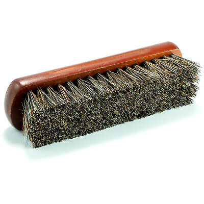 Horse Hair Brush Leather Fabric Cleaning Multiple Purpose Brush Wooden Handle