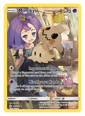 Pokemon - Mimikyu - 245/236 - Secret Rare - Cosmic Eclipse - NM/M