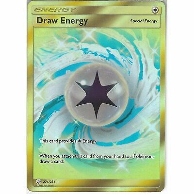 Pokemon - Draw Energy - 271/236 - Secret Rare - Cosmic Eclipse - NM/M