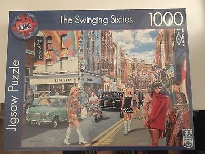 1960s CARNABY STREET JIGSAW PUZZLE 1000 PIECES LONDON SWINGING 60s