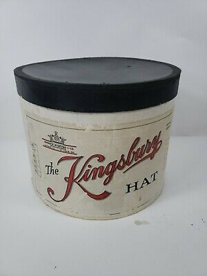 Antique The Kingsbury Hat Storage EMPTY Box 13 x 12 x 10 OVAL Good Condition
