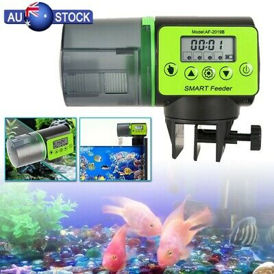 Automatic Fish Food Feeder Auto LCD Dispenser Feeding Timer Aquarium Tank Pond