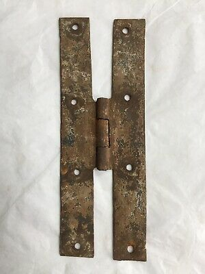 Antique Hand Forged Wrought Iron H Hinge Hardware Reclaimed 6""