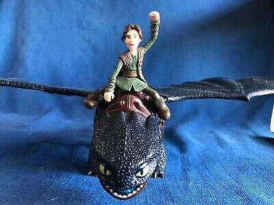 Fire Breathing How to Train Your Dragon Toothless&Hiccup Night Fury Spinmaster
