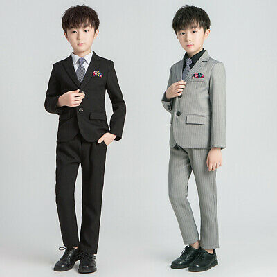 Boys Suits 5 Piece Wedding Suit Prom Page Boy Baby Formal Party 6 Colours 19135