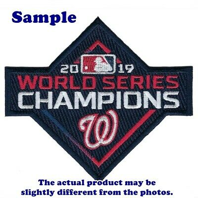 Washington Nationals World Series 2019 Champions Iron on Patches Embroidered BL