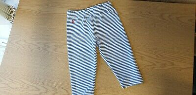 Ralph Lauren Polo Baby Girls Trousers/Leggings, Aged 2 Years Toddler Blue White