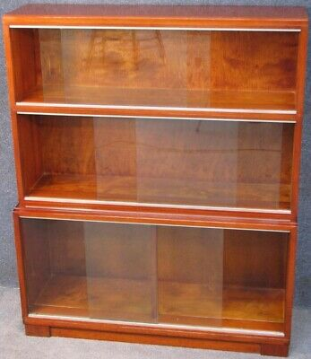 Minty Oxford Mahogany 3 Tier Stacking Bookcase Cabinet No 2