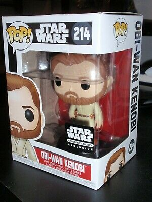 Funko Pop !  Vinyl  Star Wars  Obi-Wan Kenobi  Smuggler's bounty exclusive  #214