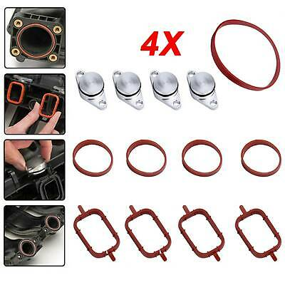 4 x 22mm Swirl Flap Replacements Removal Blanks Plug Gaskets for BMW 320d 330d