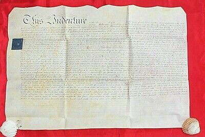 Vellum indenture Antique document Conveyance Brecon Morgan 1816 Wales History 6d