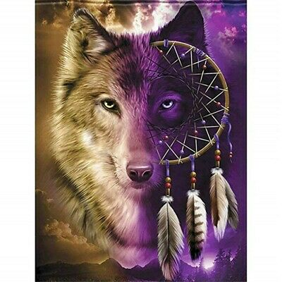 5D Diamond Painting Kits Full Drill Art Embroidery Decors Wolf Dream Catcher DIY