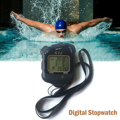 Digital LCD Chronograph  Stopwatch Handheld Sports Counter Timer Stop Watch