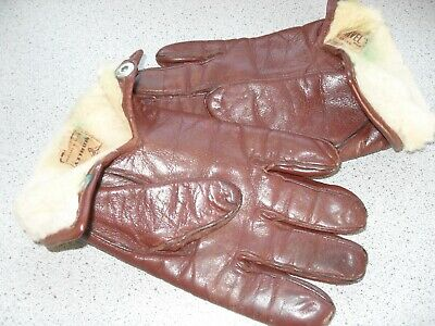 Classic Mens Leather Fur Lined Gloves