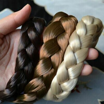 Wide Bohemian Wigs Braid Thick Fishtale Headband Fashion Hair Accessories Gift T