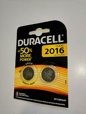* Q4  2 x Duracell CR2016 3V Lithium Coin Cell Battery 2016 DL2016 BR2016 SB-T11