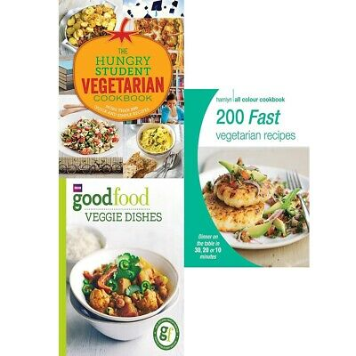 The Hungry Student Vegetarian Cookbook,Good Food,200 Fast 3 Books Collection Set