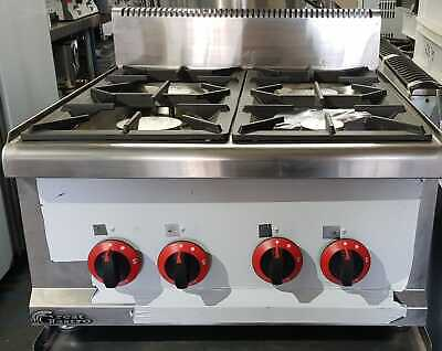 4 Burner Gas Boiling Top / Commercial Catering Table Top Gas Hob