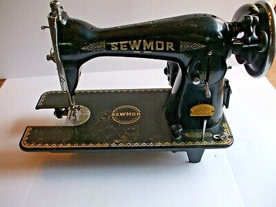 Antique Vintage SEWMOR Sewing Machine Made In JAPAN, For Parts Not Working