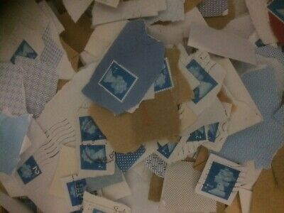 500 x 2nd class blue  Machins Non-Security First Stamps Franked Used