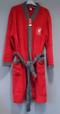 LIVERPOOL FC Official LFC Licenced Product Mens Dressing Gown Fleece Robe M Red