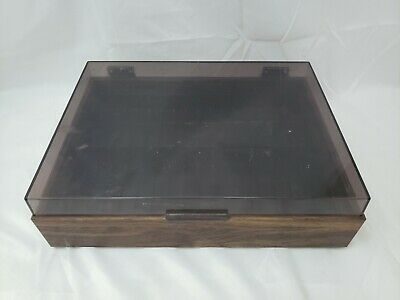 Kenmark Industrial Wooden Cassette Holder with Plastic Lid 36 count